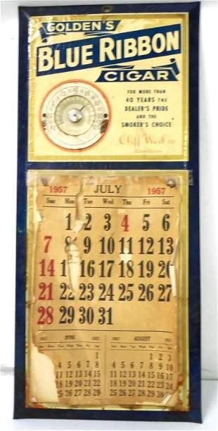 Blue Ribbon Tin Calendar Holder