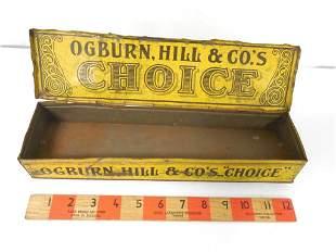 Ogburn Choice Advertising Tin