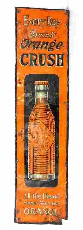 Orange Crush Tin Sign 9x35
