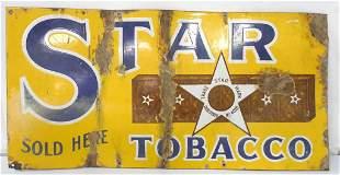 Star Tobacco Steel Sign,12x24