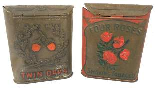 Lot of 2,Twin Oaks,Four Roses Tobacco Tins
