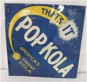 Pop Kola Tin Sign