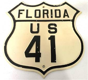 Cast Iron Florida Sign