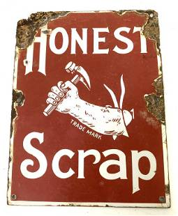 Porcelain Honest Scrap Sign