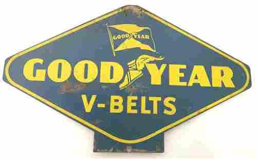 Tin Goodyear V-Belts Sign