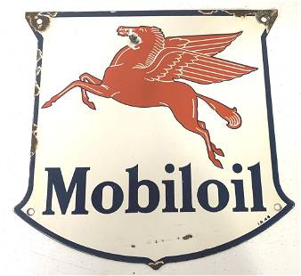 Porcelain Mobiloil Sign
