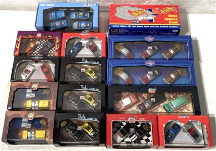lot of 15 Hot Wheels In hard collectible cases