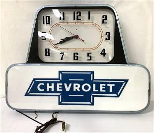 Chevrolet Lighted Clock