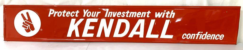 Tin Kendall Advertising Sign