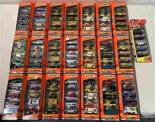 """lot of 20+ '96 & """"97 Five car Matchbox Gift Sets"""