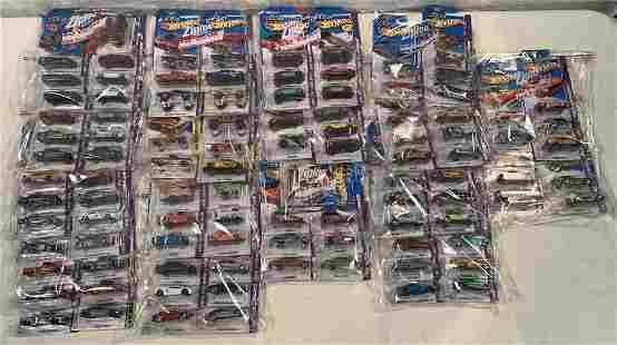 lot of 90+ 2013 Showroom Hot Wheels