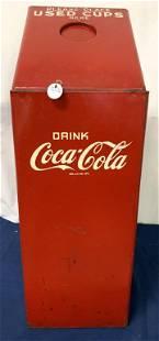 Coca Cola metal trash can