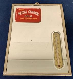 Royal Crown Cola mirror thermometer