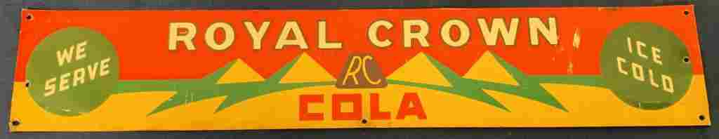 Royal Crown Cola single sided sign