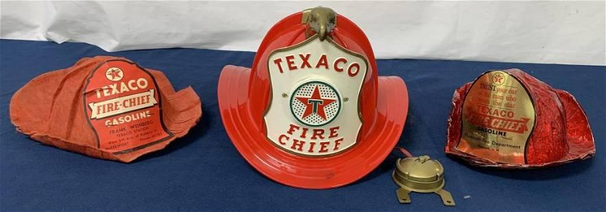 lot of 3 Texaco Fire Chief hats