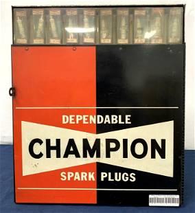 Champion Spark Plug Rack/Holder w/ plugs