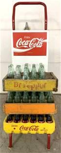 Coca Cola Hand Truck w/ Coke carrier & bottles