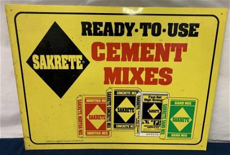 Sakrete Cement Mixes tin sign