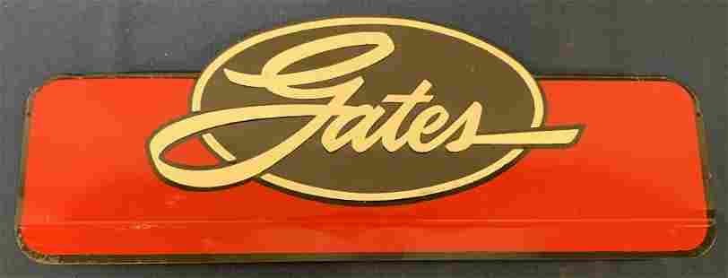 Gates tin sign