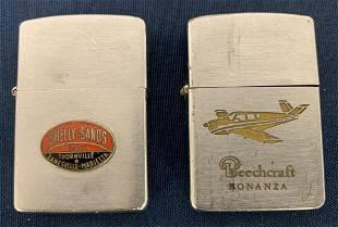 Shelly Sands & Beechcraft Zippo lighters