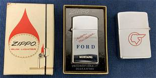 Buick/Pontiac & Ford Mustang Zippo lighters