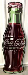 Tin Contemporary Coca Cola Bottle Sign