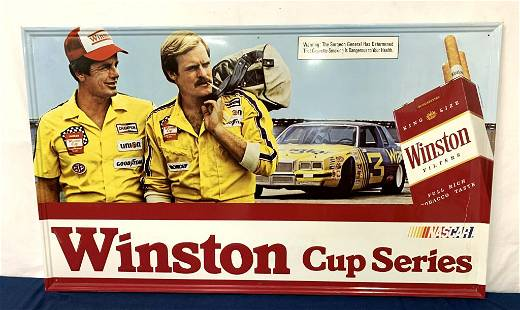 Metal Winston Cup Series Modern Sign