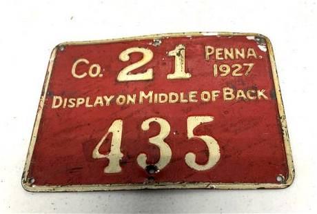 Pennsylvania Resident Hunting License 1927