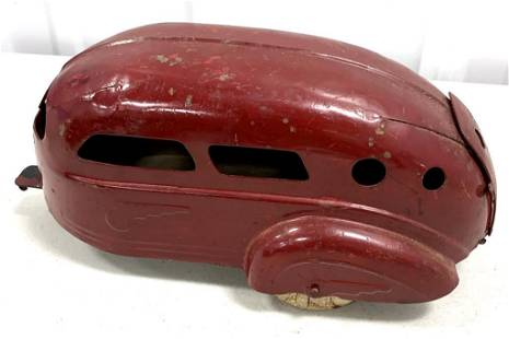 Tin Toy Pull Behind Trailer