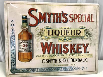 Smyth's Special Whiskey Sign Contemporary
