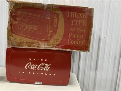 Vintage Trunk Type Coca-Cola Ice Chest