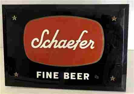 Schaefer Beer Sign Black Acrylic