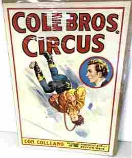 Cole Bros Circus Poster