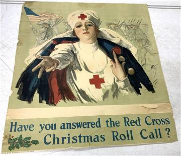 World War 1 Red Cross Poster As Is