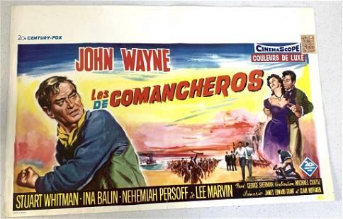 "John Wayne ""The Comancheros"" Movie Poster"
