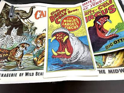 Lot of 3 Circus Posters