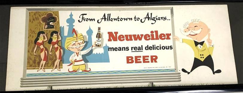 Neuweiler Beer Sign Framed