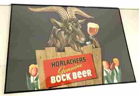 Horlacher's Bock Beer Sign