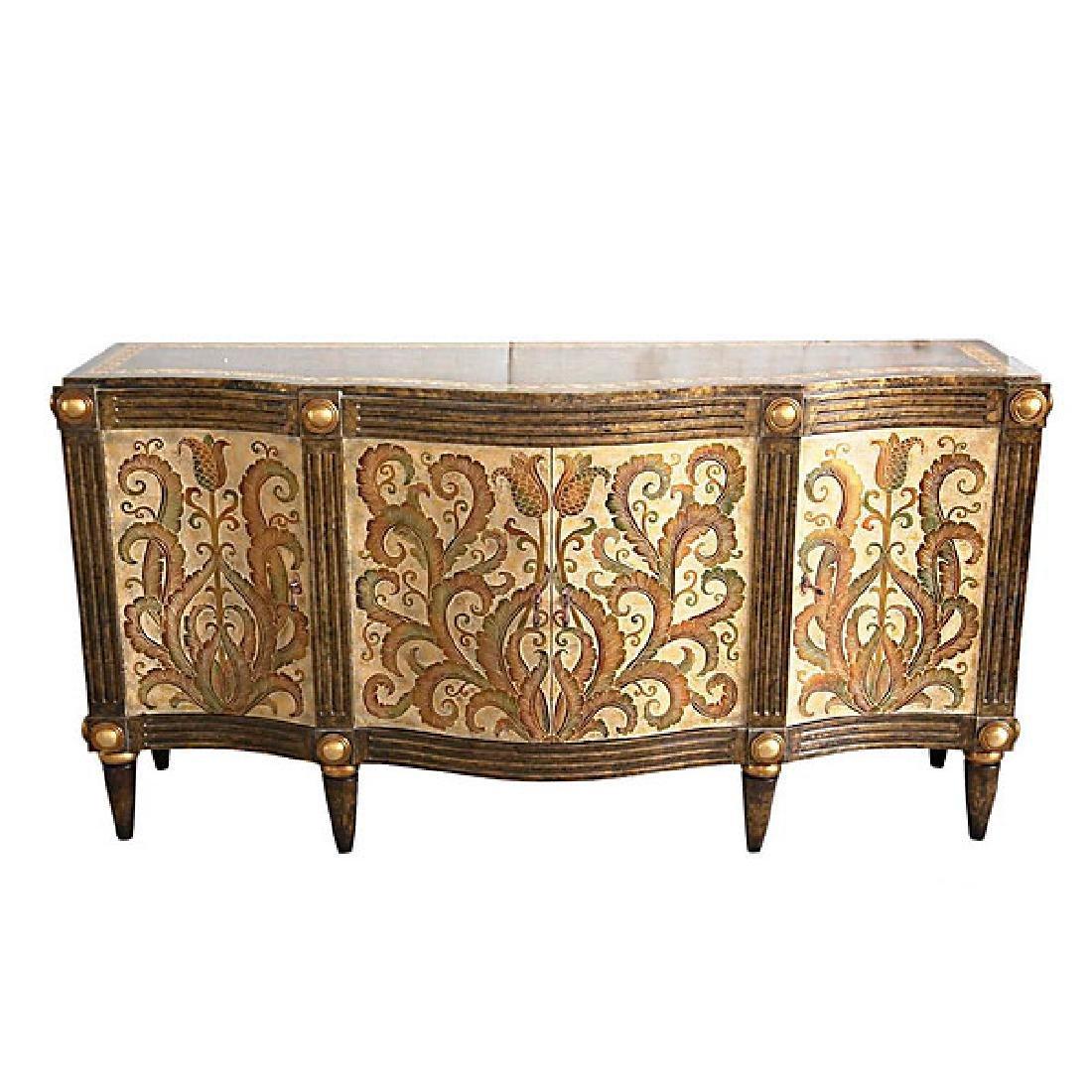 Carved Fleur Cabinet