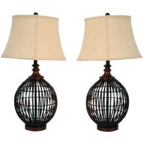 Island Weave Lamp - Set 2