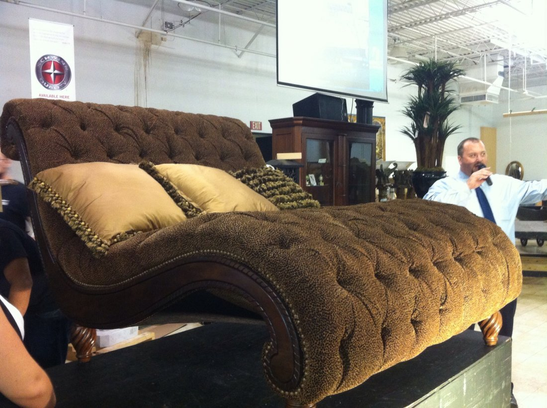 Rachlin Dinah Cheshire Curry Chaise : dinah chaise - Sectionals, Sofas & Couches