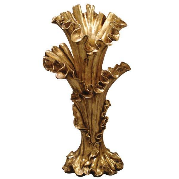 Gilded Blossom Vase