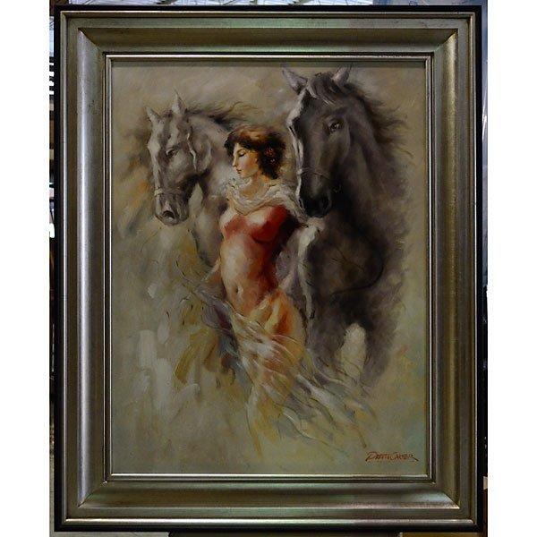 LADY W/HORSES