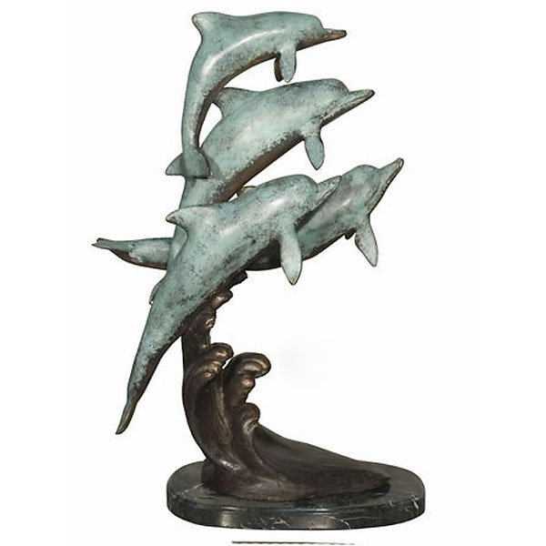 BEST SELLER! REDUCED PRICES!! Four Dolphins on Marble