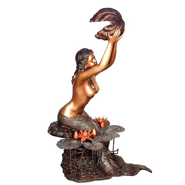 Mermaid wShell Fountain (S