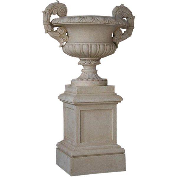 Palatial Urn On Pedestal