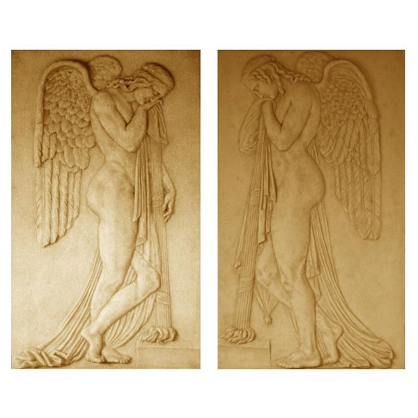 Pair Angel Wall Relief