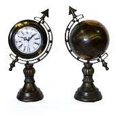 Globe & Clock - Set of 2