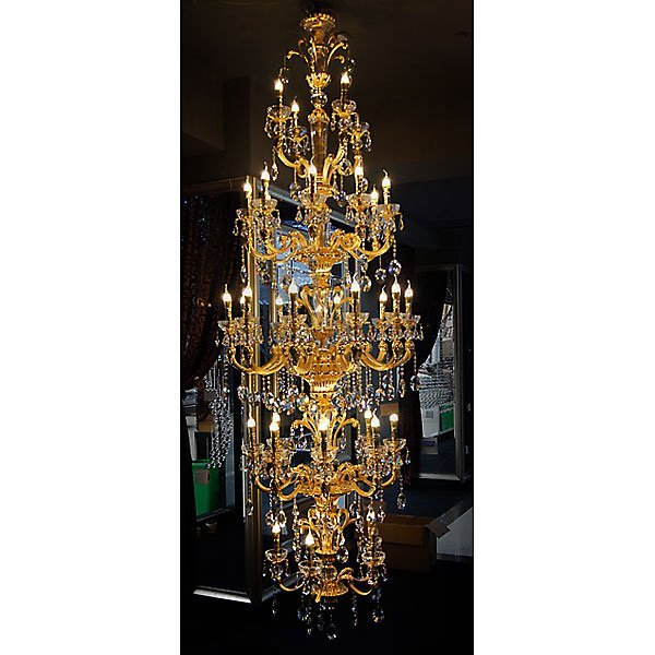 Brushed Gold Chandelier