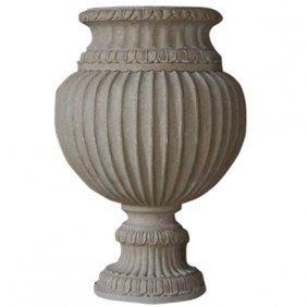 Large Ribbed Vase